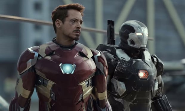 A bruised Iron Man prepares for battle in forthcoming superhero smackdown Captain America: Civil War.