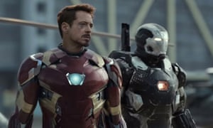 Robert Downey Jr in the Captain America: Civil War trailer.