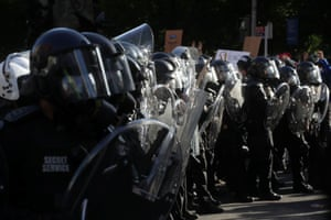 U.S. Secret Service uniformed division officers stand guard during a rally against the death in Minneapolis police custody of George Floyd, near the White House, in Washington, D.C., U.S. June 1, 2020.