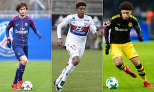 From left: Yacine Adli looks set to reject a new deal at PSG, Willem Geubbels is ready to quit Lyon while Jadon Sancho left Manchester City for Borussia Dortmund