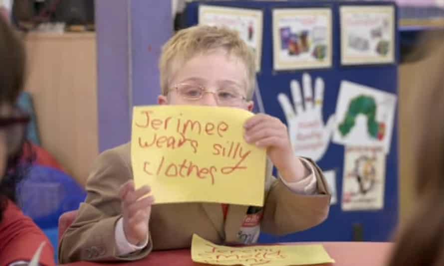 A child playing 'Jeremy Corbyn'