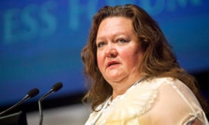 Gina Rinehart, chair of Hancock Prospecting.