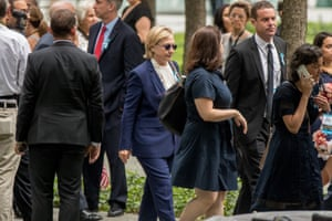 Hillary Clinton at the National September 11 Memorial, in New York