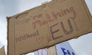 Anti-Brexit sign