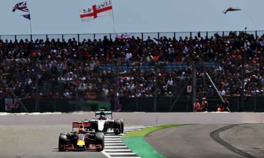 Max Verstappen at Silverstone