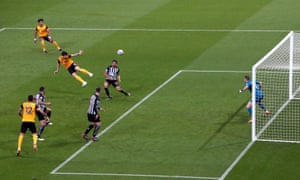 Wolverhampton Wanderers' Ruben Neves scores their side's first goal of the game.