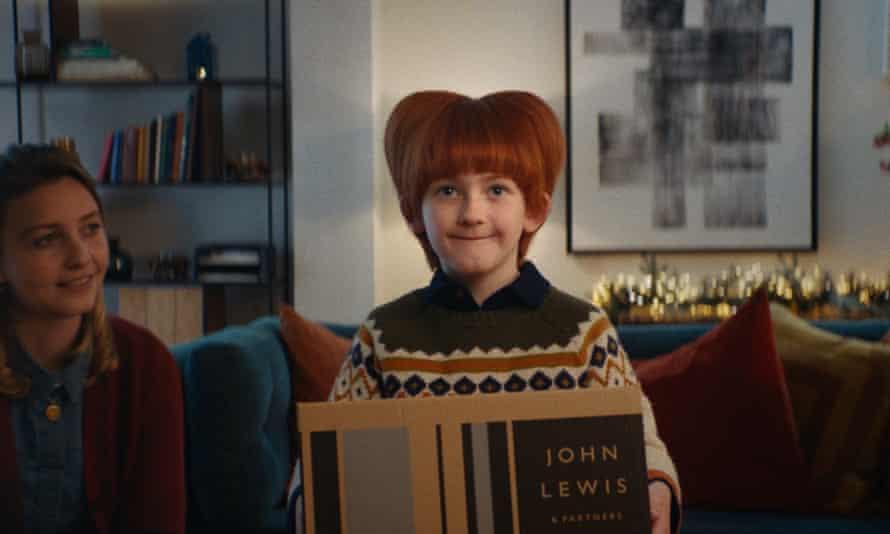 'Anne Robinson meets the Bride of Frankenstein' ... an unfortunate haircut in the John Lewis advert.