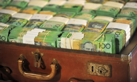 A suitcase containing $1 million