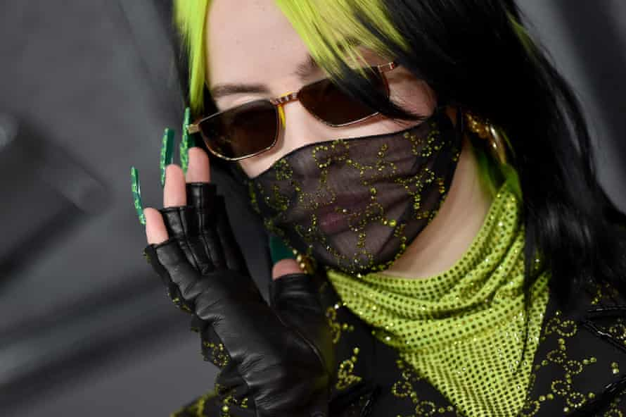 Billie Eilish's bespoke black and gold Gucci face mask was interpreted as a cool style quirk back in January.