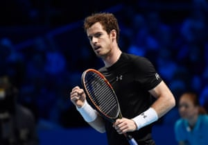 Murray takes the first set.