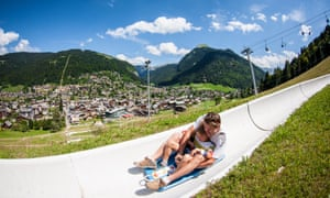 Family fun on Morzine's luge