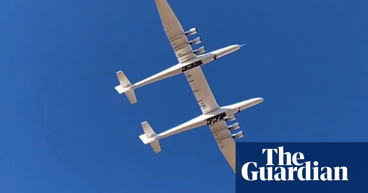 World's largest plane takes flight for the second time – video