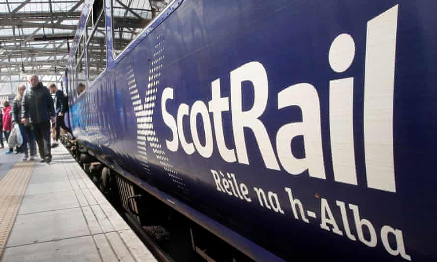 A ScotRail train at Glasgow Central station.