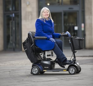Older lady on mobility scooter
