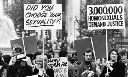 A rally organised by the Campaign for Homosexual Equality.