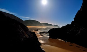 The Costa Vicentina: Scenic view of natural rocky beach in Rogil
