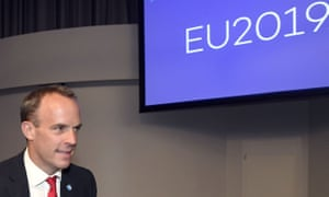 The foreign secretary, Dominic Raab attends the Informal Meeting of EU foreign ministers in Helsinki