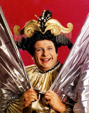 Christopher Biggins, a stalwart of British pantomime, appearing here as the dame in a 1995 London production of Aladdin in 1995.