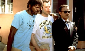 Samuel L Jackson and John Travolta with Harvey Keitel in Pulp Fiction
