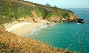 A beach in the Channel Islands