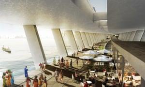 Kunlé Adeyemi and Rem Koolhaas proposal for a promenade on a Fourth Mainland Bridge.