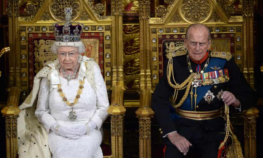 Queen Elizabeth II and Prince Philip in the House of Lords, June 2014.