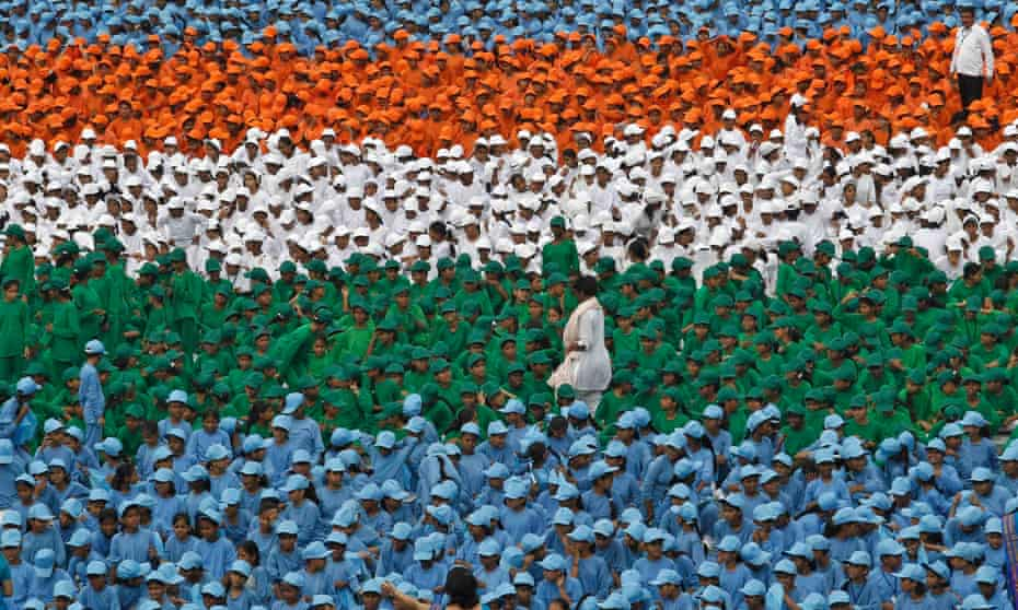 An independence day celebration in India in 2012
