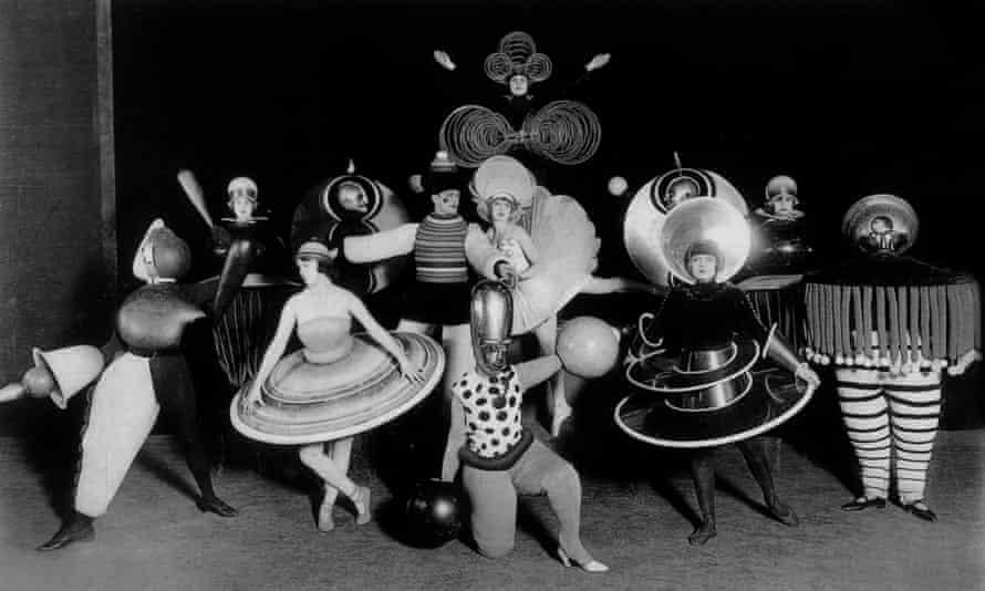 Mechanistic figurines … Oskar Schlemmer's designs for Ballet Triadique from 1926.