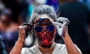 Pasto, Colombia. A woman takes part in the Black and White carnival, a cultural celebration of racial heritage and diversity