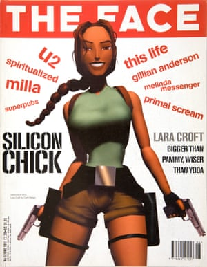 Branding coup … Croft on the cover of a 1997 issue of the Face.