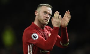 Wayne Rooney applauds the Manchester United fans after February's goalless draw with Hull City