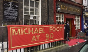 Michael Foot's 90th birthday was celebrated at the Gay Hussar on 16 July 2003