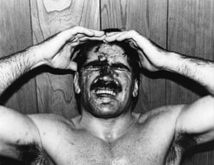 Match fixing in wrestling was an issue hidden in plain sight. But while the fights were stage-managed, they were nevertheless incredibly tough. Wrestlers routinely suffered broken bones, bloody noses, and black eyes, like Rollerball Rocco here.