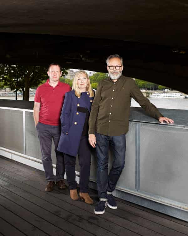 Bob Stanley, Sarah Cracknell and Pete Wiggs at the BFI, London.