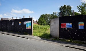 The site of the proposed Clifton Moor care home in Tyldesley, Greater Manchester.