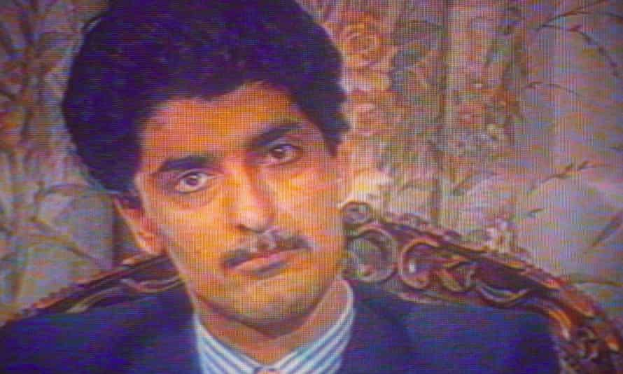 Farzad Bazoft, seen during his televised confession to spying in 1990