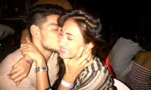 Happier times: at a party with Sooraj Pancholi