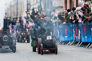 Minature Steamers for Charity during London's New Year's Day Parade 2018