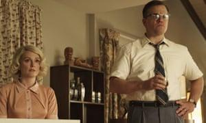 ulianne Moore, left, and Matt Damon in Suburbicon.