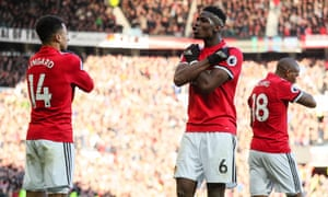 Paul Pogba played in front of two holding midfielders when Manchester United thrived against Liverpool, Chelsea, Manchester City and Tottenham in the final third of last season.