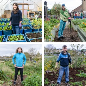 people volunteering at Glengall Wharf Garden, urban garden in South London