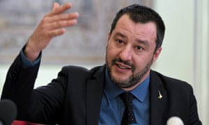 Italy's interior minister, Matteo Salvini, in Warsaw on Wednesday.