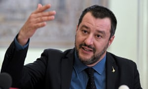 Matteo Salvini, deputy premier and leader of the rightwing League party.