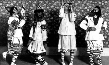 Riotous assemblage … Ballets Russes dancers in the original 1913 Paris production of The Rite of Spring.