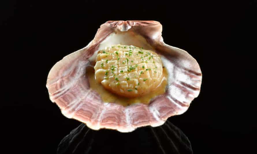 A scallop prepared by Eric Ripert