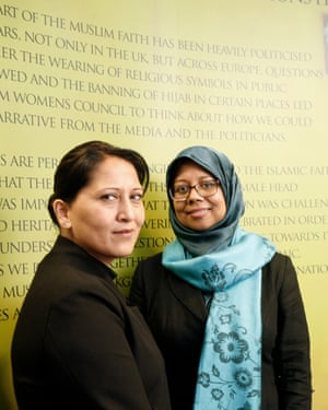 Bana Gora, right, chief executive of the Bradford Muslim Women's Council and chair Selina Ullah.