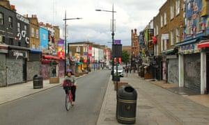 A deserted Camden street.