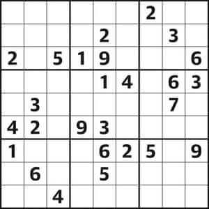 Sudoku 4,176 hard | Life and style | The Guardian
