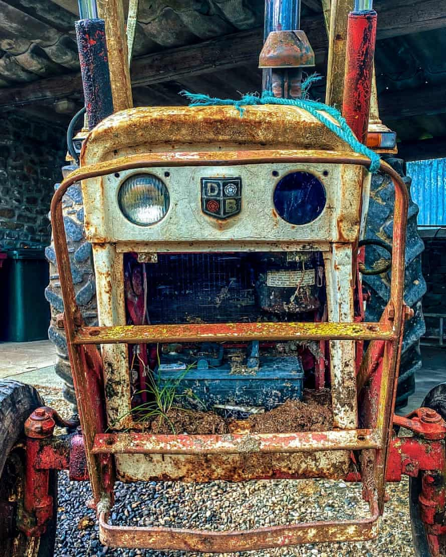 Rusting tractor