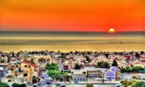 Sunset at Paphos, Cyprus.